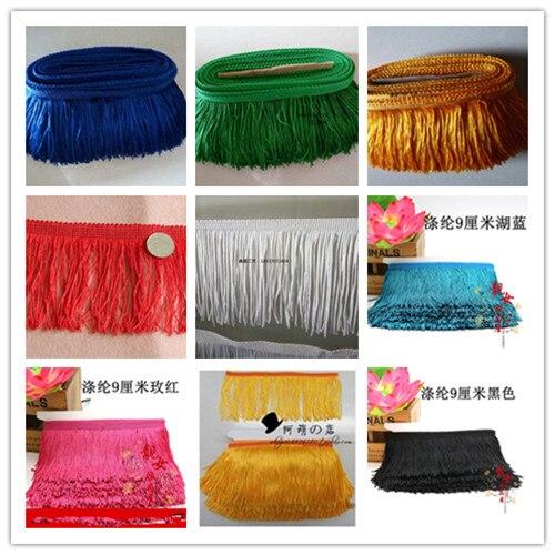 50 Yards 9-10 CM largeur Polyester frange de pompons de décoration pour bricolage robe latine africaine dentelle fil ruban pour coudre rideau