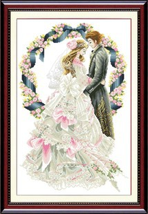 aliexpresscom buy 2016 free shipping european cotton cross stitch wedding kit married love series figure patterns set for embroidery home deco from