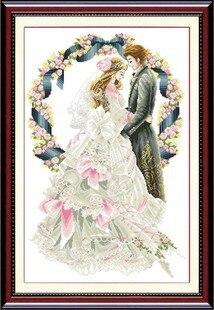 2016 Free Shipping European Cotton Cross Stitch Wedding Kit ...