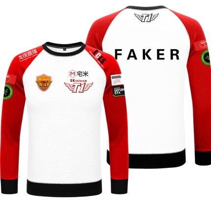 The Game LOL S7 skt1 Team Uniform Long-sleeved Hoody WAR Finals LOL Player Sweatshirt High Quality Hoodie Free Shipping