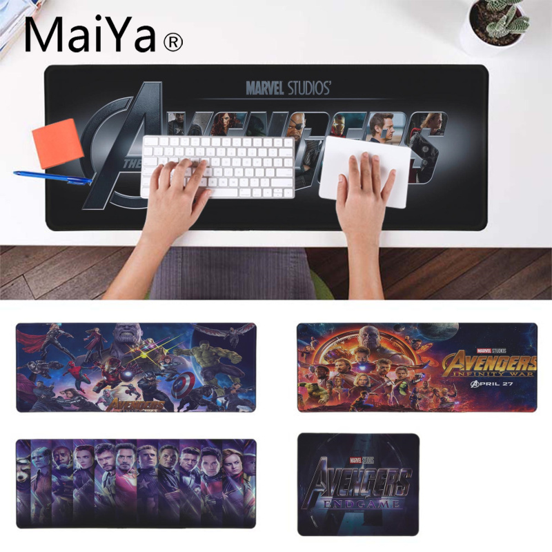 Maiya New Designs The Avengers 4 The <font><b>Final</b></font> Battle Rubber <font><b>Mouse</b></font> Durable Desktop Mousepad Rubber PC Computer Gaming mousepad image
