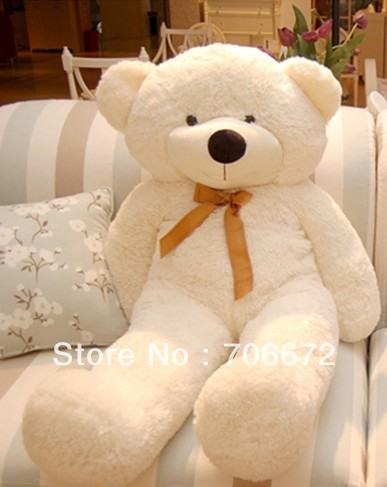 New stuffed white teddy bear Plush 120 cm Doll 47 inch Toy gift wh35 1pair 40cm teddy bear plush toy teddy bear wedding doll teddy bear stuffed animal doll wedding gift