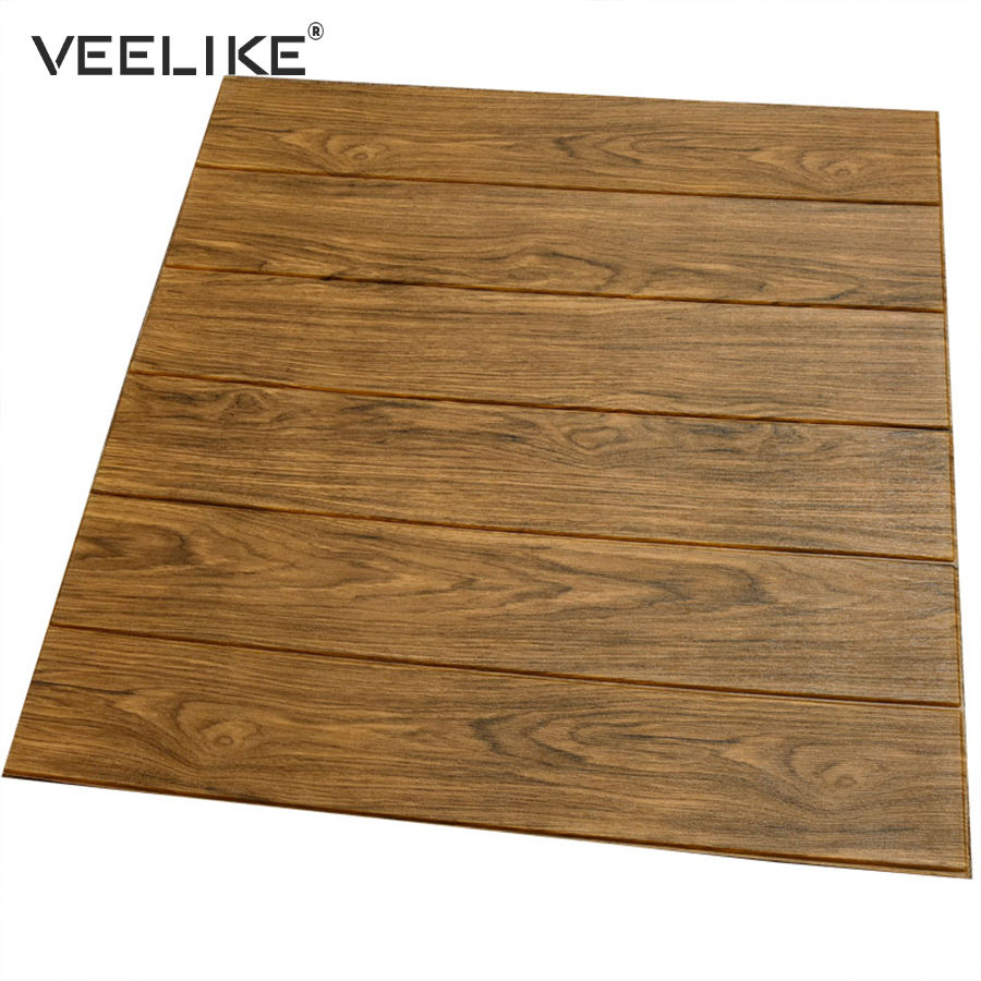 3D Wood Panels Vintage Wall Paper Bedroom Home Decor Wall Panel Stickers Self Adhesive Wallpaper For Living Room TV Background цена