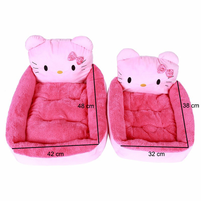 New Cartoon Cat Beds & Mats Cozy Warm Soft Fleece Bed Sofa For Small Pet Dogs Cats Washable Cat Kitten Kitty Houses Pet Products