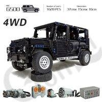Technic 20100 Compatible with legoes Technic MOC 2425 G500 AWD Wagon RC Motors Car Sets Building Blocks Bricks Educational Toys