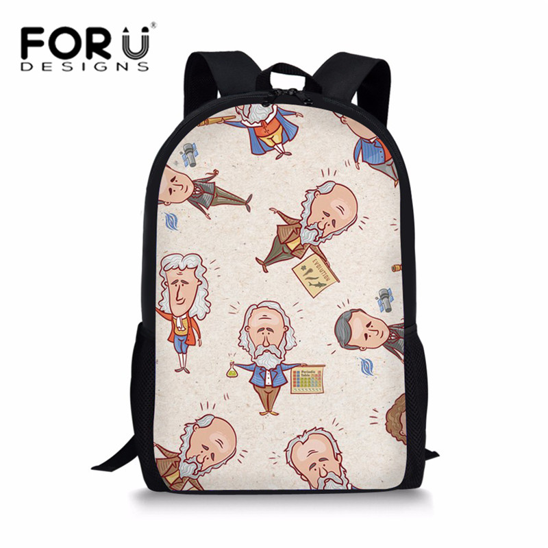 FORUDESIGNS Primary Students School Bags for Teenager Girls Character Printing Creative Design Shoulder Backpack Kids Schoolbag