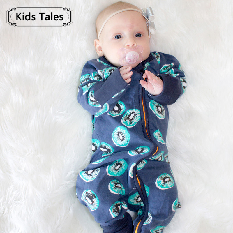 2018 New Spring Newborn Baby   Rompers   Long Sleeve Baby Girl Boy Clothes Sleepwear Baby   Rompers   Cute Pajamas with Zipper SR310