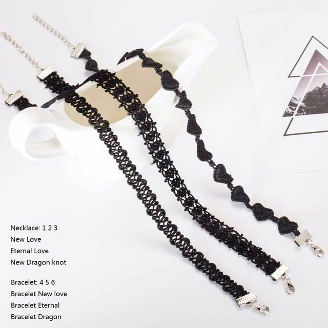 Tomtosh Fashion Choker Necklaces For Women 2016 Fashion Laciness Polyster Statement Necklaces Collares Love Necklaces Wholesale