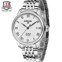 BINKADA Brand Automatic Wristwatch Mens Unique Designer Watch Shockproof Waterproof Dive Role Daytona Mechanical Watch reloj