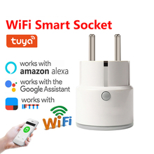 WiFi Smart Power Socket Plug With Remote Control Compatible  EU Plug Works With Google Assistant amazon Alexa IFTTT Smart Life все цены
