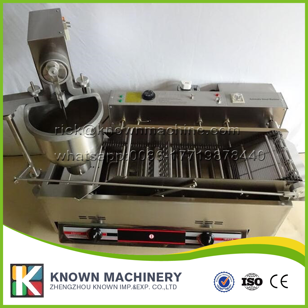 Automatic gas donut machine, donut making machine, gas donut maker with 304 stainless steel food grade