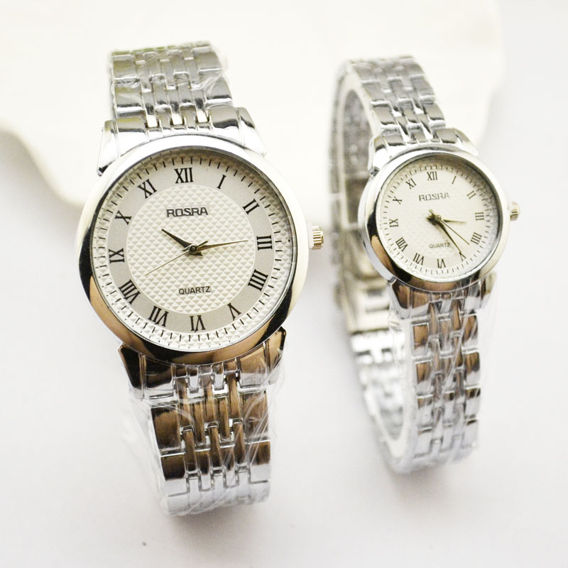 Korean Version Of High-end Men's Watch Quartz Watch Steel Belt Waterproof Watch Casual Lovers Watch Manufacturers Direct Jhlf
