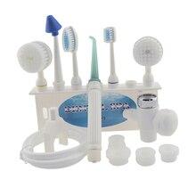Sıcak! Diş temiz cihazı ev darbe yumruk makinesi diş yıkama yıkama kiti su diş ipi ağız bakımı araçları dokunun diş clea