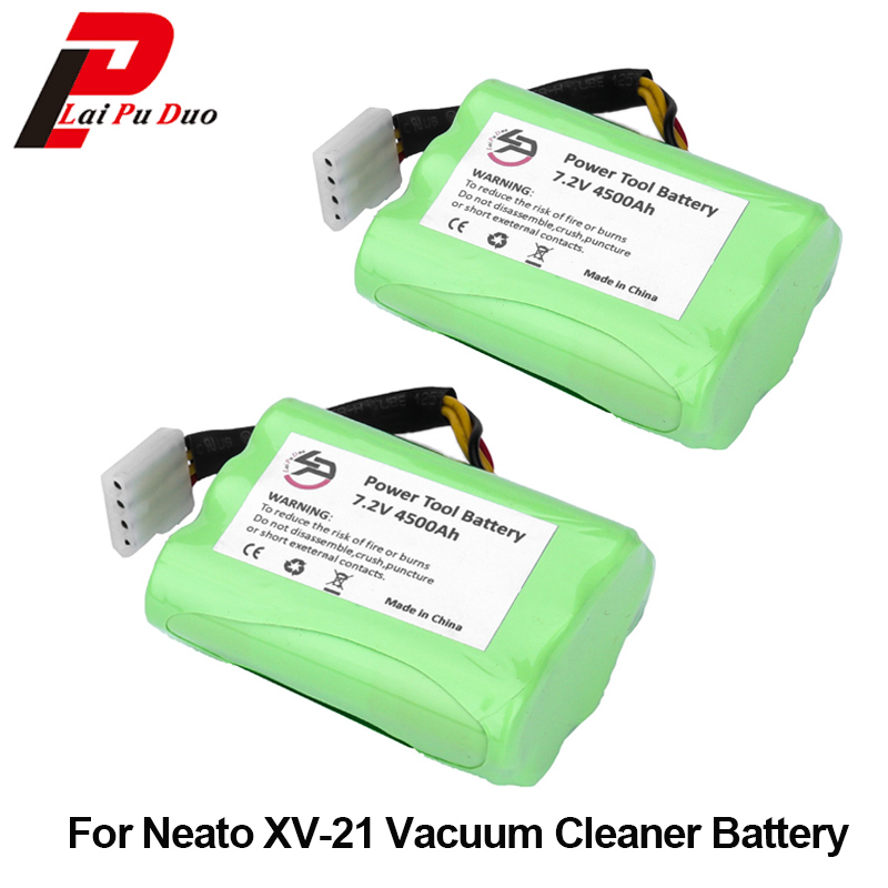 2 pcs/lot 7.2 v 4500 mah Batterie Pour Neato XV-11 XV-21 XV-14 XV-15 Robot Aspirateur Pour Neato XV batterie Signature pro