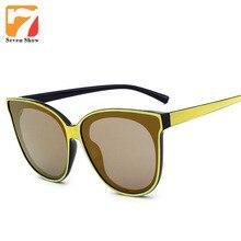 Gafas de Ojo de Gato de La Vendimia gafas de Sol Mujeres 2017 Retro Fresco de la Marca diseño de Gafas de Sol De Las Mujeres Shades Gafas gafas de Recubrimiento sol