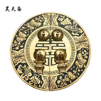 [Haotian vegetarian] bronze Chinese antique Ming and Qing furniture, copper door handle HTB-034
