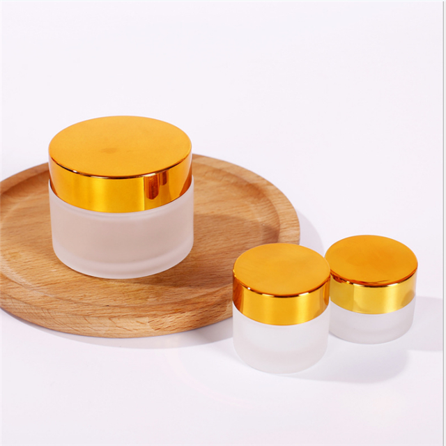 6ps High Quality, 5g 10g 20g 30g 50g Empty Matt glass cosmetic container,small glass jar,refillable cosmetic container package
