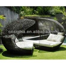 Дизайнерская мебель PE ротанга синтетическая плетеная кушетка открытый шезлонг