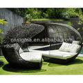 2014 Diseño de Muebles Rota DEL PE Sintético diván De Mimbre Solárium Al Aire Libre