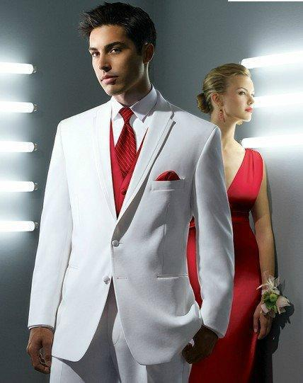 Custom Made White Shawl Lapel Groom Tuxedos Groomsmen Best Man Suit Men Wedding Suits Br ...
