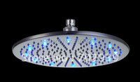 Free shipping brass round led shower head (30cm )