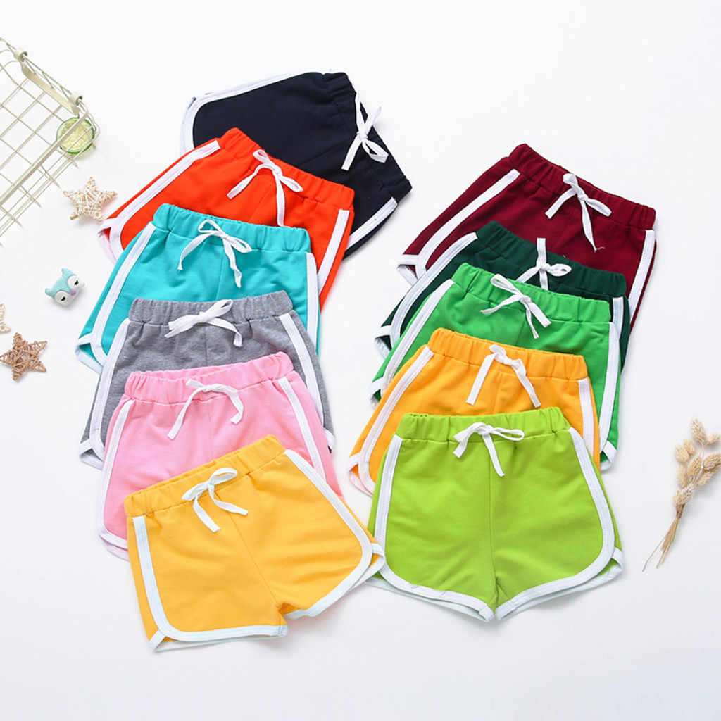 baby shorts kids shorts for girls boys toddler children Elastic sports short cotton Pants clothes шорты для мальчика хлопок 4