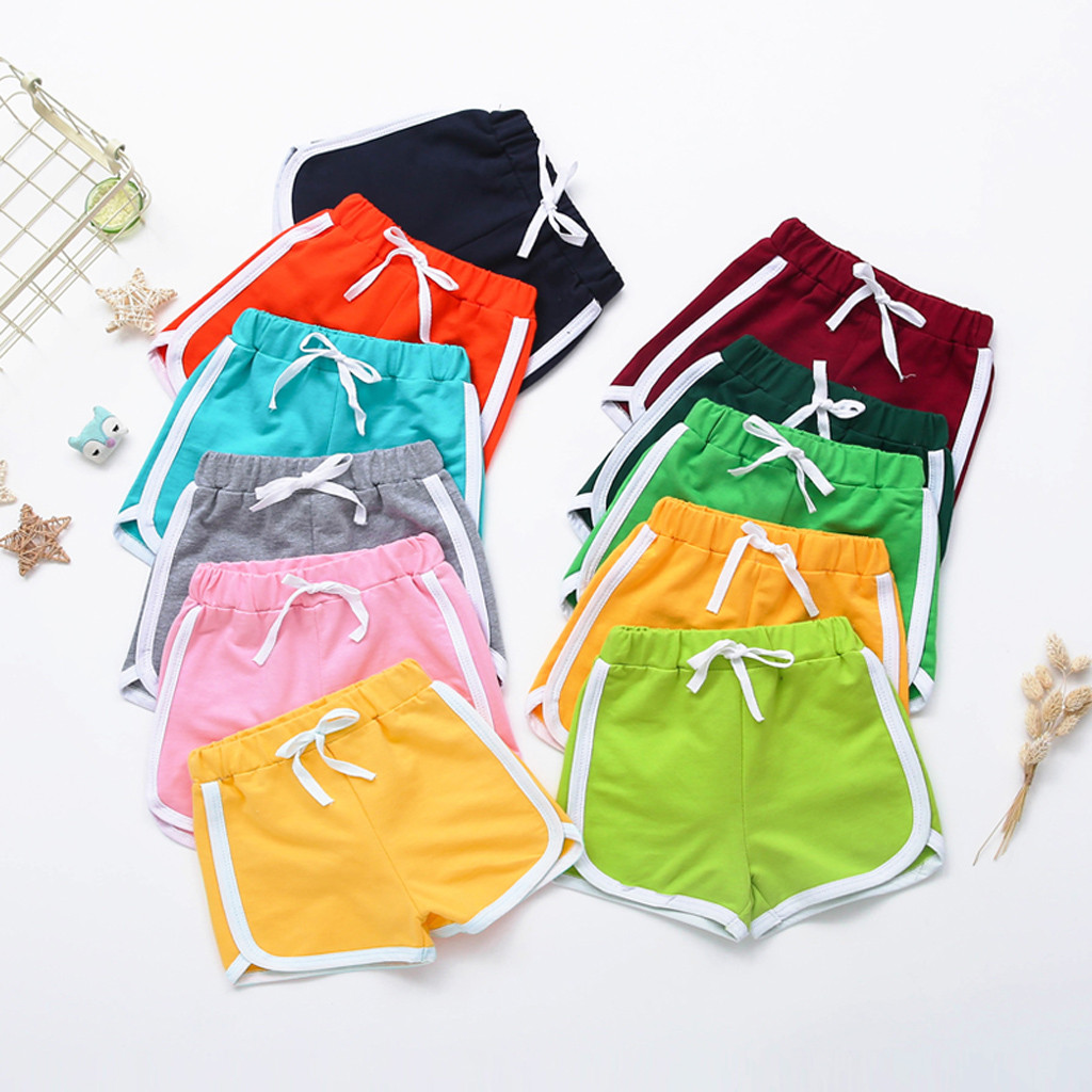 Baby Shorts Kids Shorts For Girls Boys Toddler Children Elastic Sports Short Cotton Pants Clothes шорты для мальчика хлопок 4