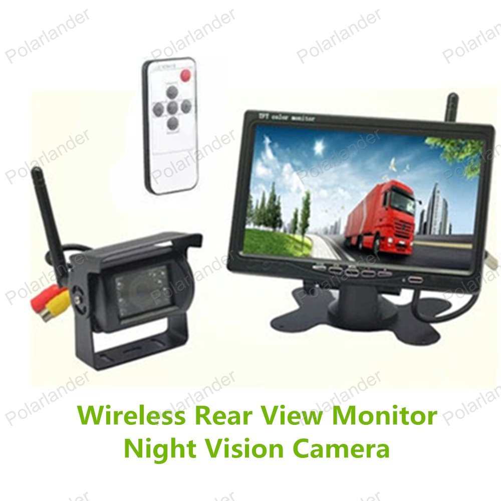 7 Inch TFT LCD Color Display Screen Rear View Monitor for bus truck reversing parking with night vision rearviwe camera 7 car wireless foldable tft lcd monitor with rear view infrared night vision backup camera reverse parking cam for truck bus