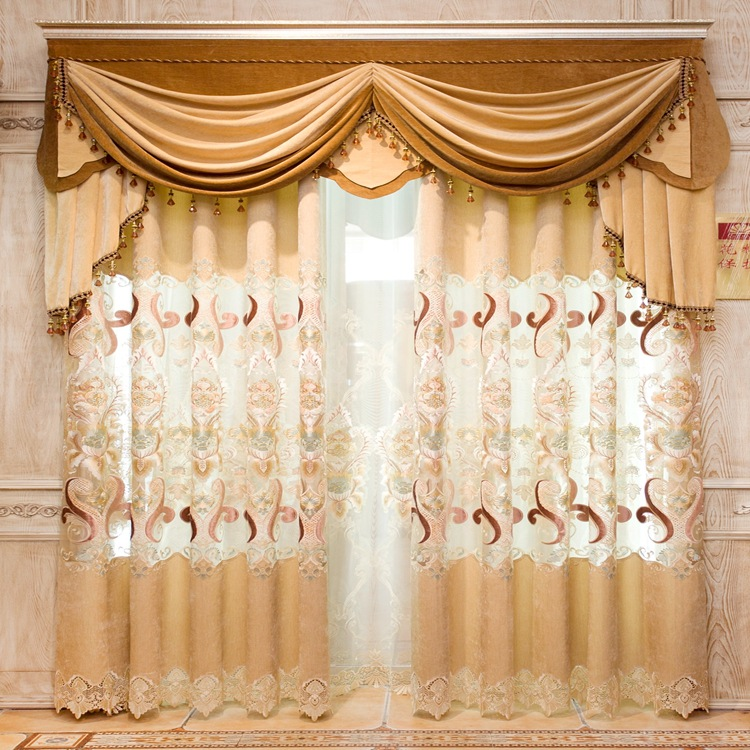 European Chenille Lace Curtains For Living Dining Room Bedroom JChina
