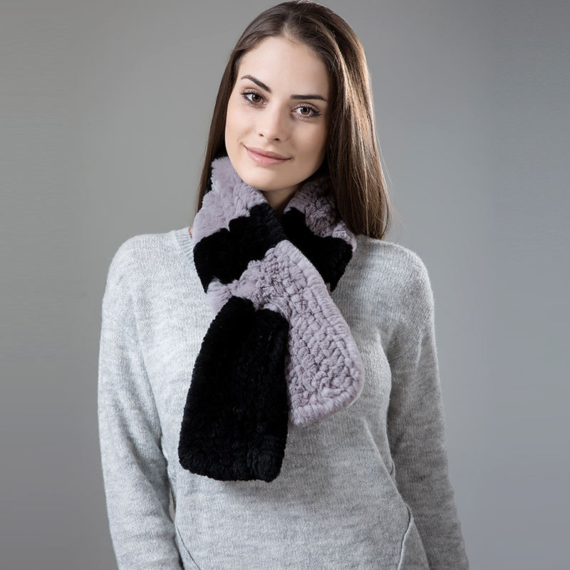 Natural Fur Scarf Women Winter Real Rex Rabbit fur Scarves cachecol bufandas New arrival muffler thermal Soft (4)