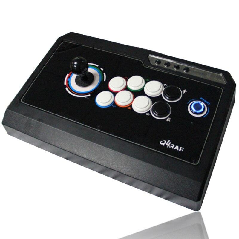 Nouveau jeu Triple fonction joystick arcade combat sans délai USB ordinateur Fluorescence Arcade lutte rocker PC jeux poignée - 2