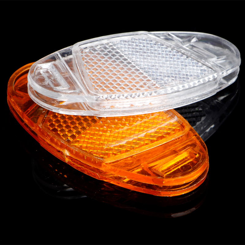 1Pc Bicycle Bike Spoke Reflector Safety Warning Light Wheel Rim Reflective Mount black 7 spoke plastic wheel rim