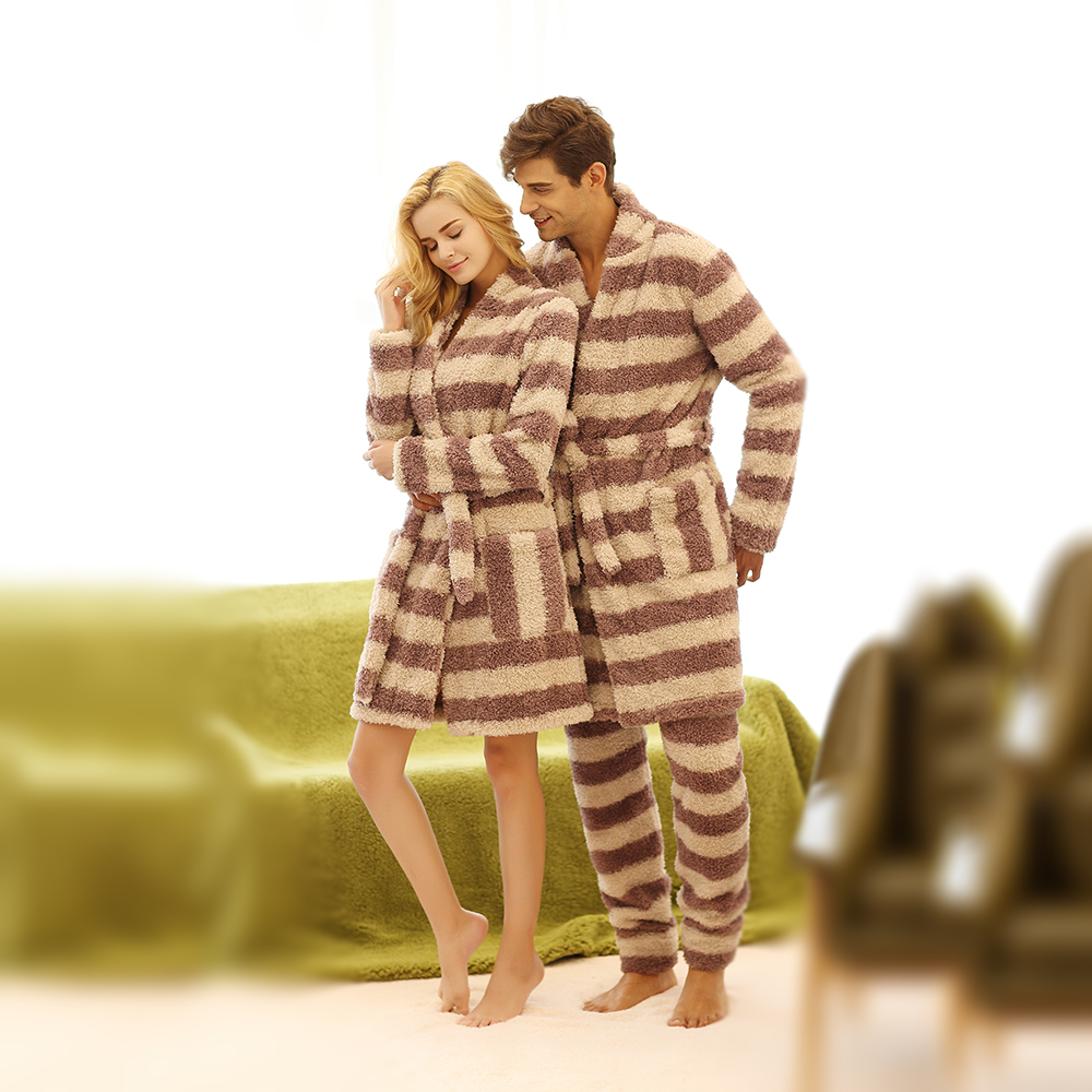 Men and Women Unisex Lovers Super Soft Microfiber Sleepwear Home Wear  Loungewear pajama Sets with Pajama Long Pants Robe Sets-in Pajama Sets from  Underwear ... e1197f219