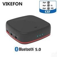 VIKEFON Aptx HD/ Low Latency Bluetooth 5.0 Transmitter for TV PC Laptop Bluetooth Audio Receiver Adapter for Car Speak Amplifier