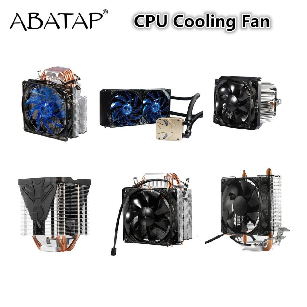 Ultra Quiet Cooling Fan Pure Copper CPU Cooler Heat Pipes Four-wire Chassis Radiator Fast LED Cooling System For Intel Computer pccooler 12cm computer case cooling fan quiet cpu and power cooler fan cooling radiator fan 120mm computer pc chassis fan silent