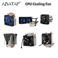 Ultra Quiet Cooling Fan Pure Copper CPU Cooler Heat Pipes Four Wire Chassis Radiator Fast LED