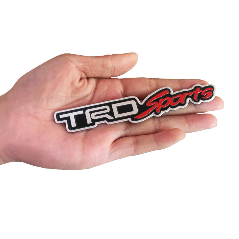 3D Alloy TRD Sports Car Sticker Emblem Badge Decal For Toyota Car Tail Fender Exterior Accessories