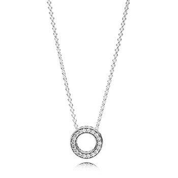 73c606b47d84 2019 nueva moda auténtica Plata de Ley 925 para siempre Pandora Collier  Collar para mujer regalo de fiesta de cumpleaños joyería fina DIY