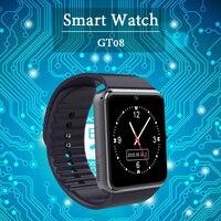 الجملة الذكية ووتش GT08 زائد ساعة متزامنة المخطر دعم tf بطاقة sim بلوتوث اتصال