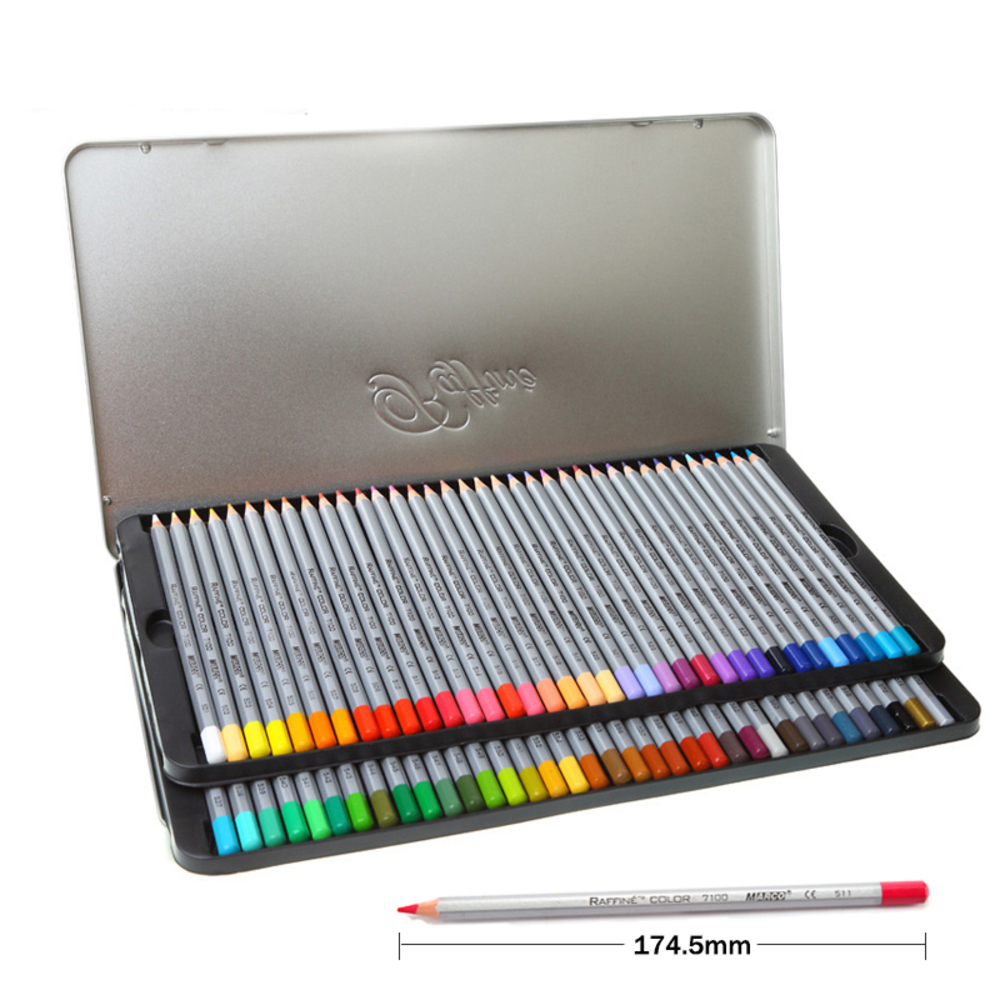 Marco 72 pcs Colored Pencil Painting Set lapis de cor Non-toxic Lead-free Oily Color Pencil Writing Pen Office & School Supplies