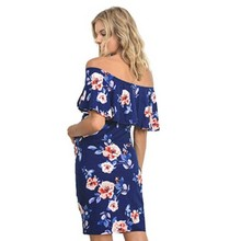 Summer Maternity Floral Flouncing Sundress