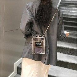 2019 acrílico feminino casual preto garrafa bolsas carteira paris festa de higiene pessoal casamento embreagem sacos noite transparente saco