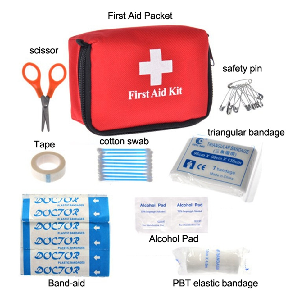 Outdoor First Aid Kit Emergency Kits Eight Pieces in One First Aid Kit Earthquake First Aid Medical Bag for Outdoor Activities