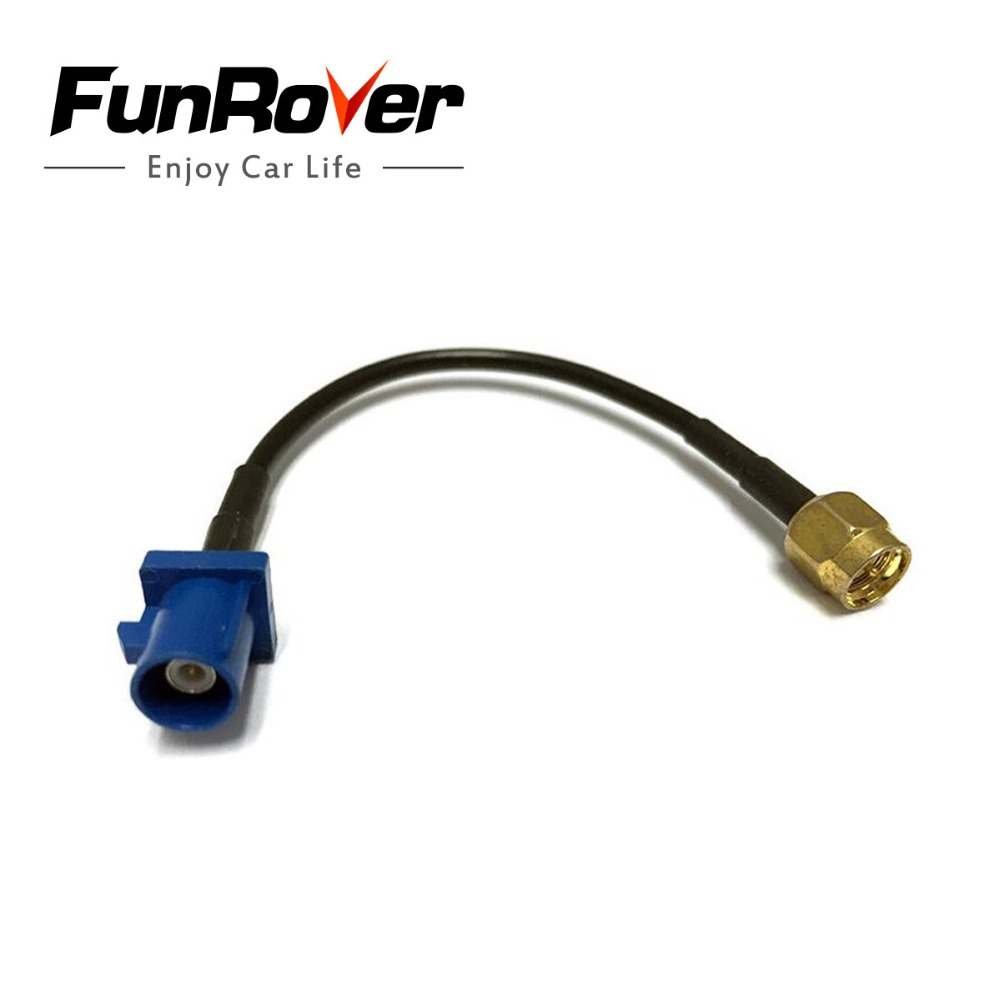FUNROVER <font><b>GPS</b></font> antenna <font><b>Fakra</b></font> <font><b>Adapter</b></font> Shark Buchse for VW for Seat for Benz forford <font><b>GPS</b></font> Antenna Extension Cable <font><b>Fakra</b></font> Z Female image