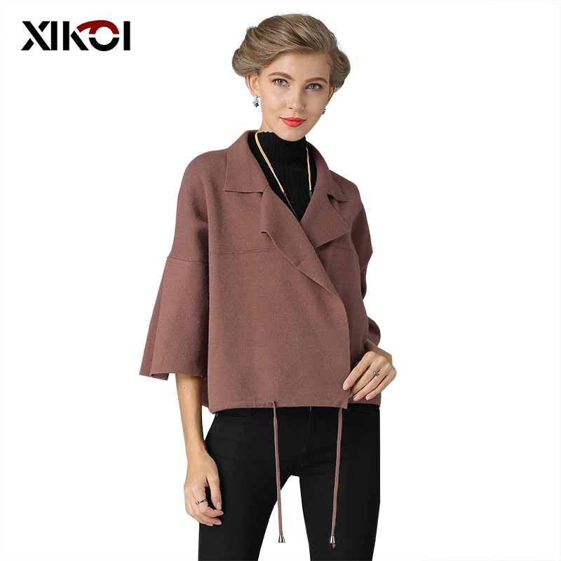 XIKOI Women Knitting Sweater Cardigans Winter Solid Open Stitch Cardigans Tassel Thick Jacket Sweaters Coat Dropshipping