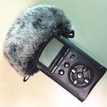 Открытый искусственный мех ветер микрофон крышка муфта лобовое стекло рукав щит для Tascam Dr40 Dead cat для Tascam DR40