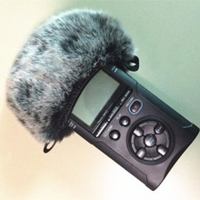 Outdoor Artificial Fur Wind Microphone Cover Muff Windscreen Sleeve Shield For Tascam Dr40 Dead cat for Tascam DR40