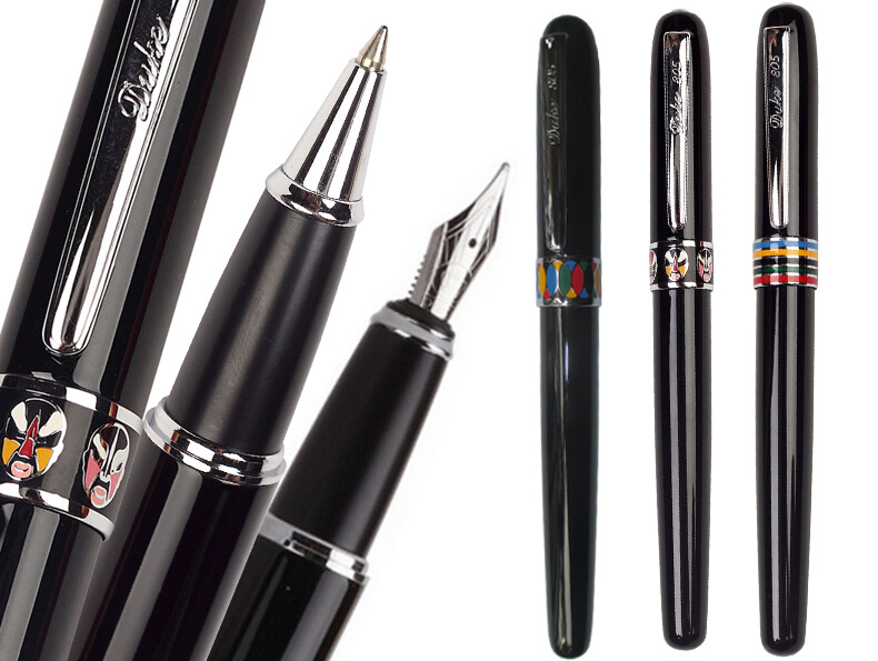 цена на DUKE 805# Fountain Pen or RollerBall pen 2 colors to choose standard pen stationery Free Shipping