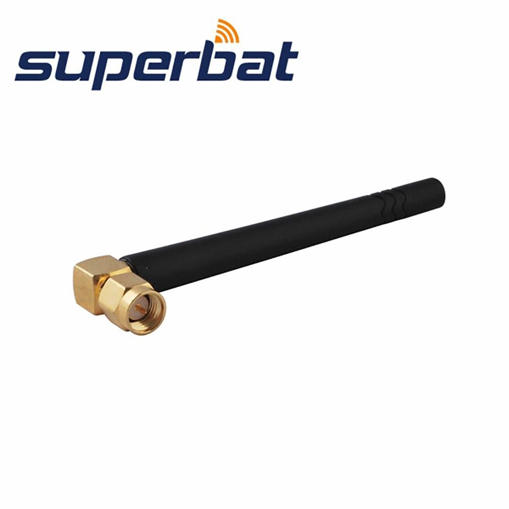Superbat 24 Ghz 3dbi Omni Wifi Antena Sma Pria Steker Ra 50ohm Skun Female 63 Brass 75 X 18 Mm Tebal 100pcs Pipih Hitam Untuk Nirkabel Router Wlan Pci Kartu Bebek Karet Udara