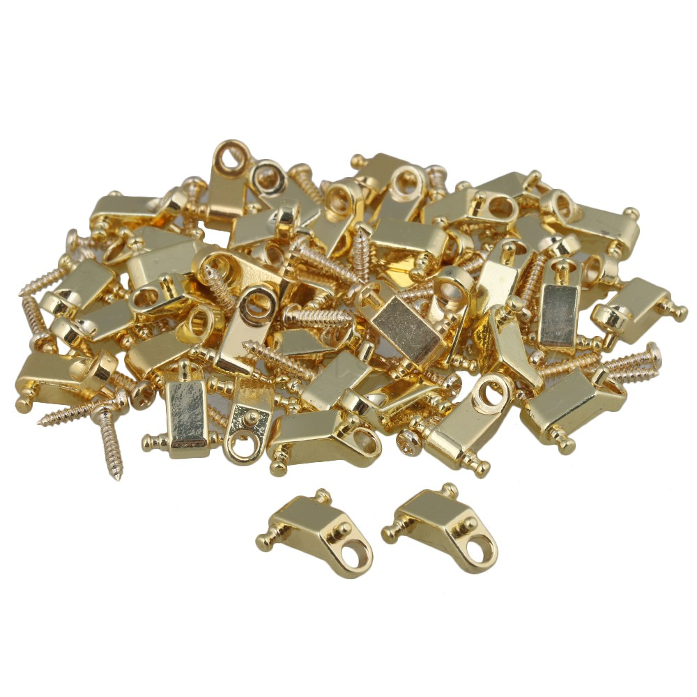 Yibuy Golden Copper Roller String Trees / String Retainers with Screws for Electric Guitar Pack of 200 flame trees of thika